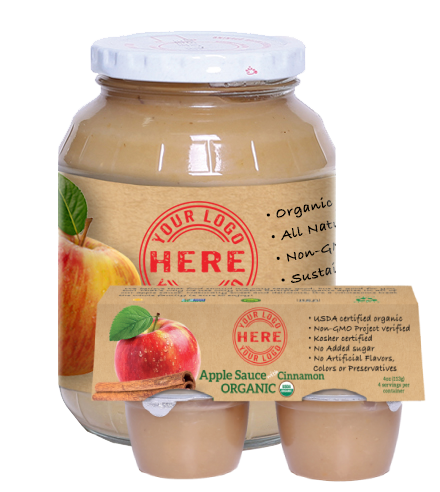 Manzana organic apple sauces